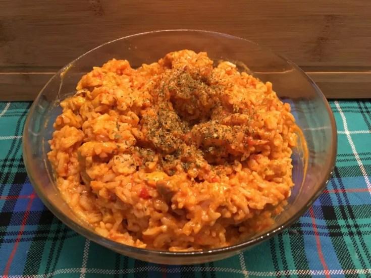 , Pierś z kurczaka w pomidorowym sosie curry