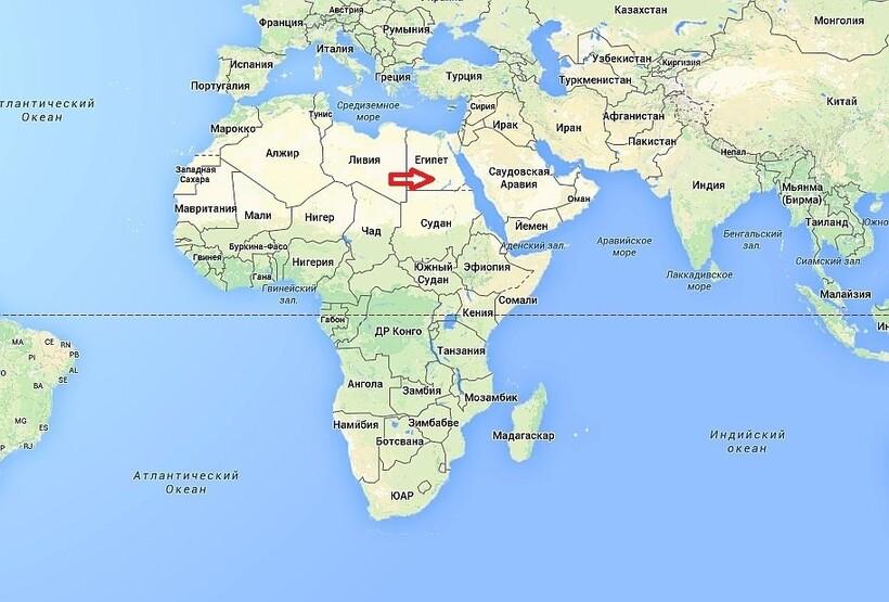 Egipt na mapie