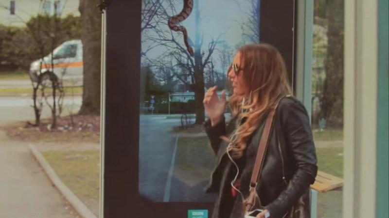 Видео: Экзотические животные попадают на улицы с помощью экрана дополненной реальности