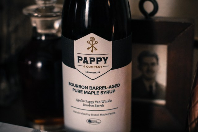Pappy Van Winkle Bourbon Maple Syrup combines two of our favorite things: bourbon and syrup. It is made out of pure maple syrup that was made with sap harvested from the Bissell's Maple Farm in Ohio in the Spring of 2015 and aged 100 days in Pappy Van Winkle 23-year-old barrels.