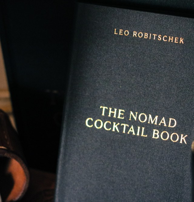 The NoMad Cookbook not only features recipes from one of our favorite NYC restaurants, but if you look inside there is a hidden cocktail book within the pages featuring recipes from the NoMad's award-winning bartender, Leo Robitschek.