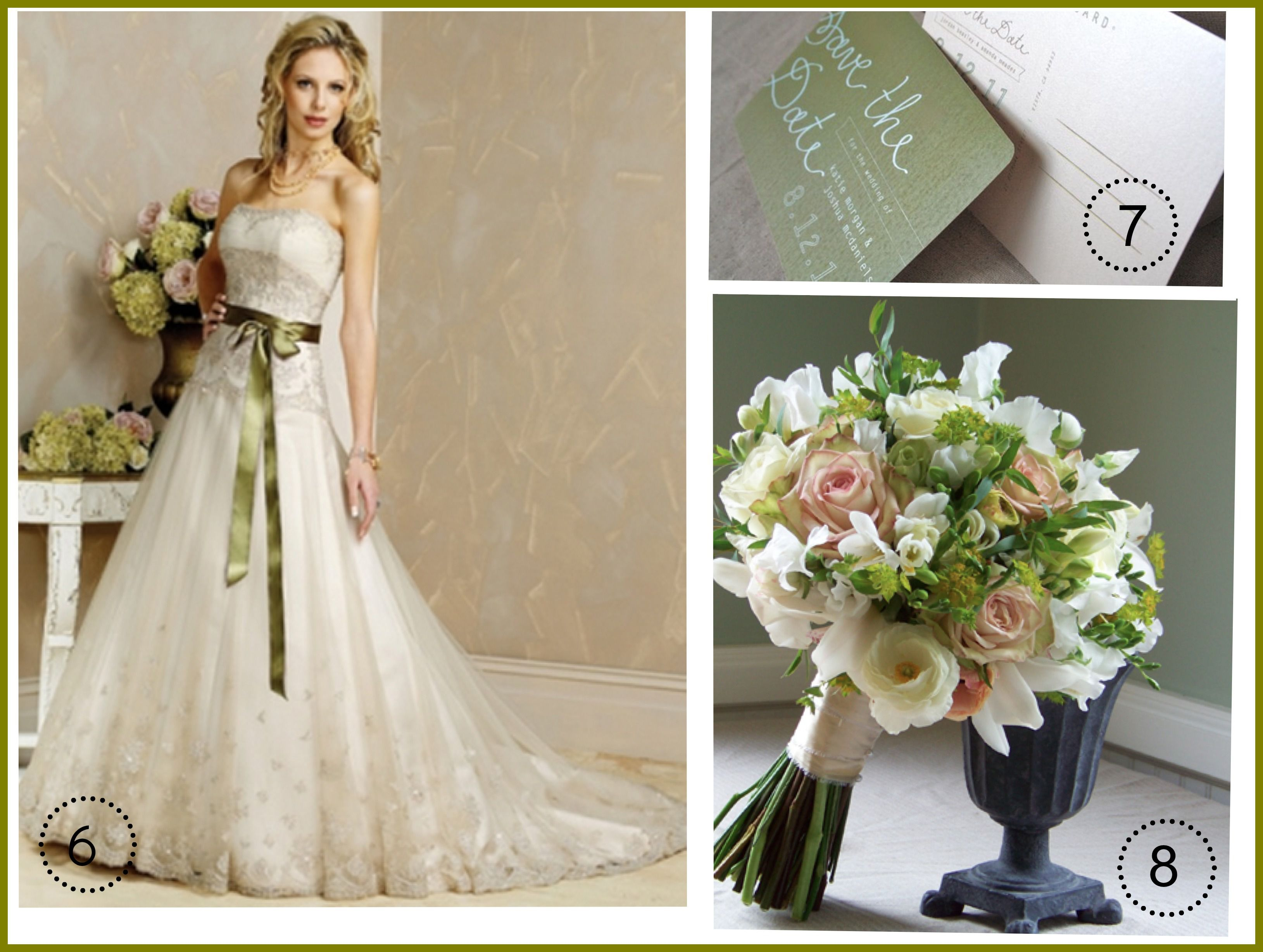 Ideas For An Olive Green Wedding