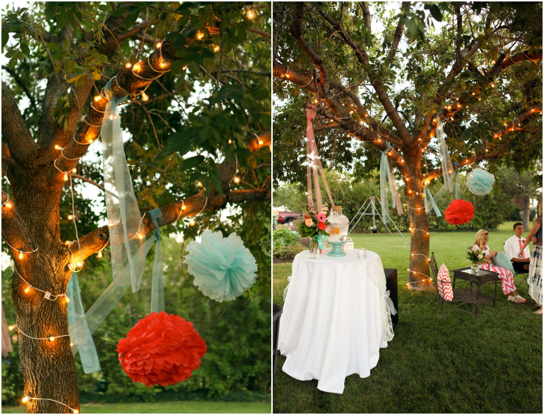 Bright and Colorful Backyard Wedding - Rustic Wedding Chic on Backyard Decor  id=28357