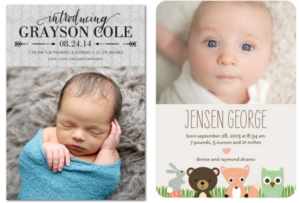 Rustic Baby Boy Birth Announcements Rustic Baby Chic