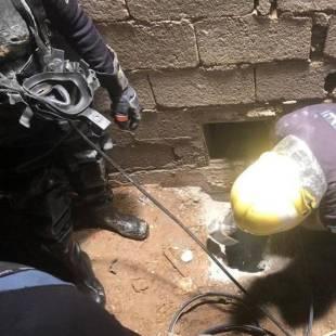 (بالفيديو ) مصرع طفل بعد سقوطه في خزان صرف صحي بحفر الباطن