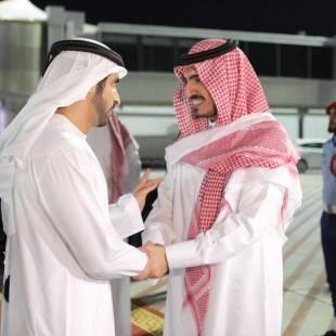 ولي عهد دبي يغادر جدة