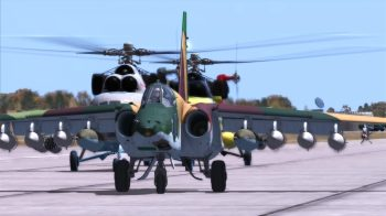 Image of an Su-25 taxiing in DCS
