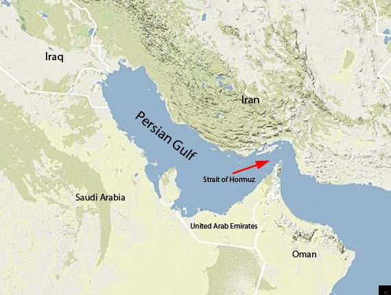 Strait of Hormuz map image
