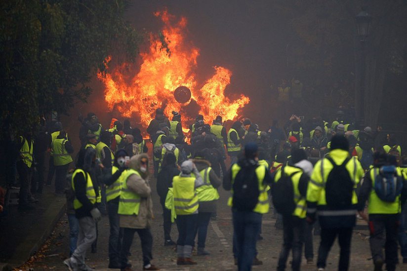 Image result for violent protests in paris