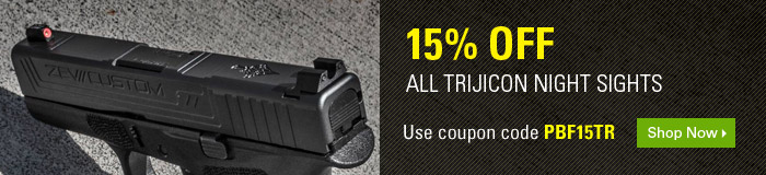15% off ALL Trijicon Night Sights/Tritium Sights