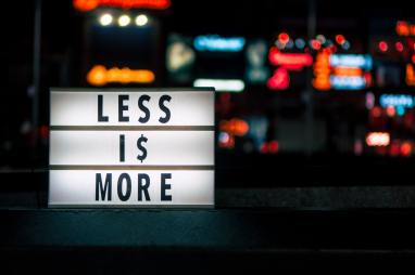 Sign saying less is more - key design components