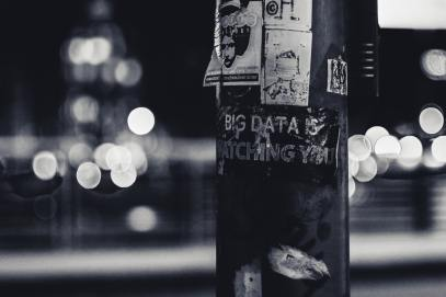 Post with poster saying Big Data is Watching