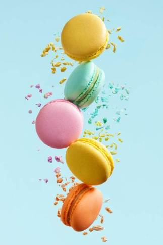 colourful cascade or macarons