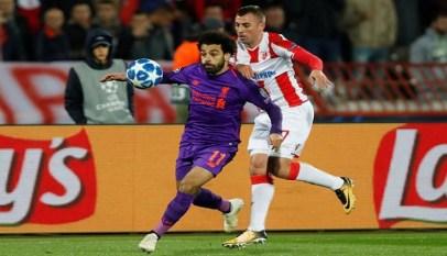 النجم الأحمر يسقط ليفربول بثنائية تاريخية بدوري الأبطال