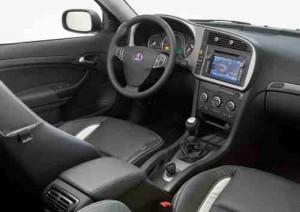 Propriedade esportiva Saab 9-3 Griffin interior