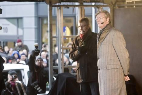 Vor einem Jahr: Victor Muller und Saab Chef Jonsson verkünden die Unabhängigkeit