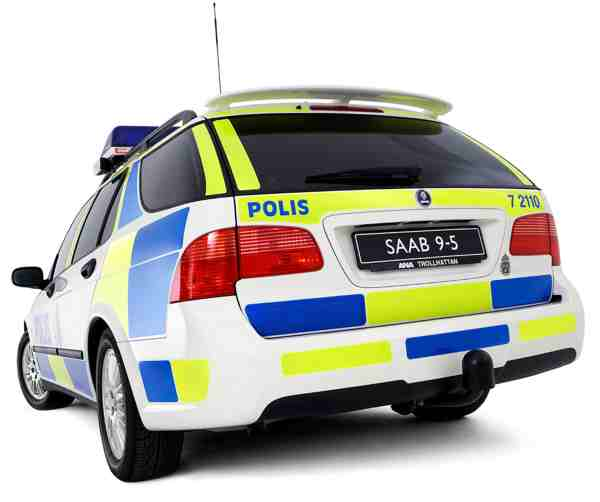Saab 9-5 Sportkombi, Polizeiversion.