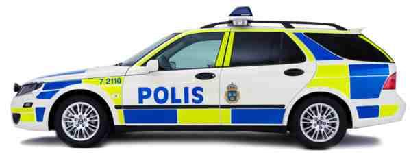 Saab 9-5 Polis Sports Suit, robusto e claro.