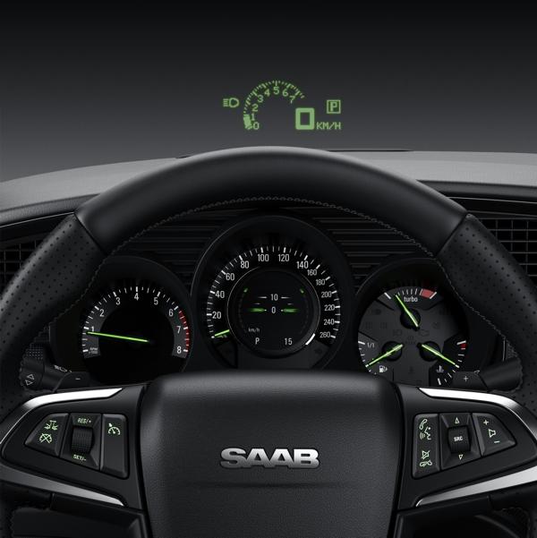 Saab cockpit geïnspireerd door de vliegtuigindustrie