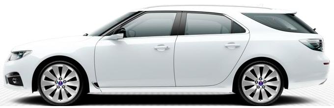 Saab 9 5 SportCombi, blanc arctique