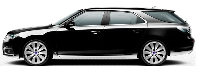 Saab 9-5 SportCombi, черный
