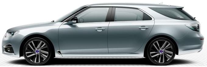"Saab 9 5 SportCombi, 8,5 x 19 ""rodas de liga leve, design de raio 10"" Edge ""(ALU104)"
