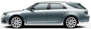 Saab 9-5 SportCombi, Glacier Silver