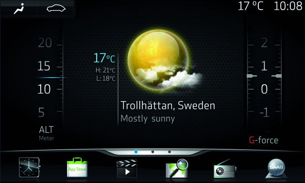 Saab IQon, basierend auf Googles Android OS