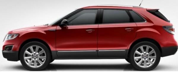 Saab 9-4x Crystal Red Metallic