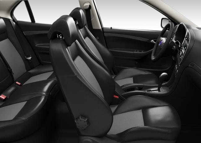 Saab 9-3 Griffin, Sport-Komfortsitze Leder-Textil, schwarz