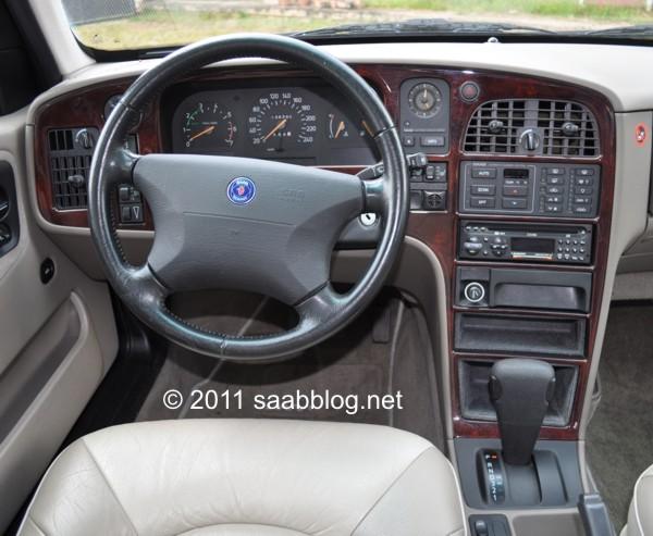 Saab 9000 CSE cockpit, beste ergonomie uit de vliegtuigindustrie