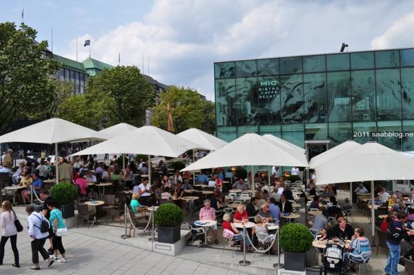 Hamburg i juli, på Binnenalster
