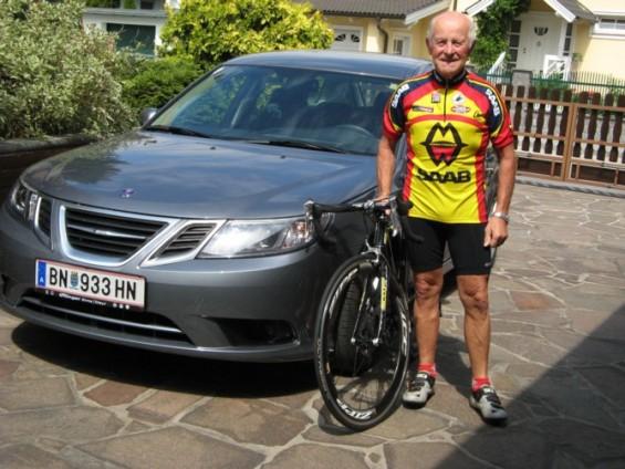 Jost en zijn nieuwe Saab 9-3