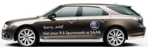 """Propuesta de IAA de Mark, traje deportivo Saab 9-5 """"Sorry..sold"""""""