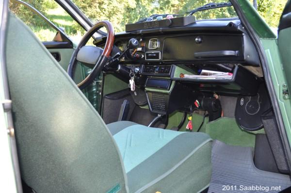 Interior Saab 96 GL, amedrontado