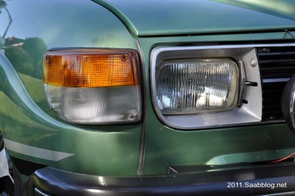 Saab 96 GL, Saab Erfindung: Scheinwerfer Reinigung