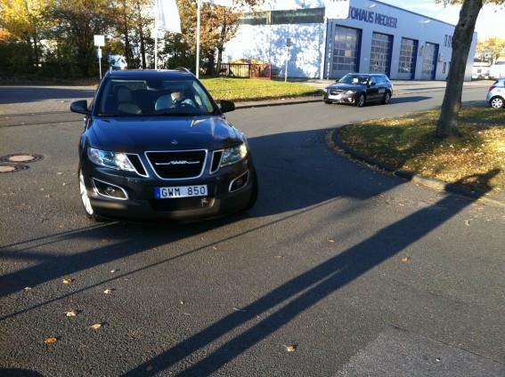 Erwischt in Paderborn, der neue Saab 9-4x