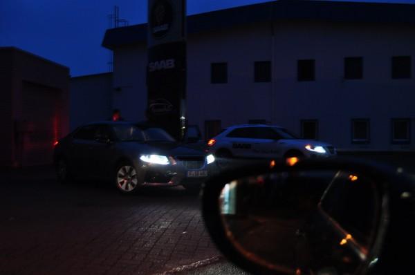 Saab Team Händlertour 2011, unterwegs nach Süden