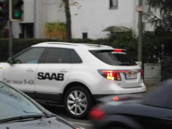 Der neue Saab 9-4x: Erwischt in Gießen