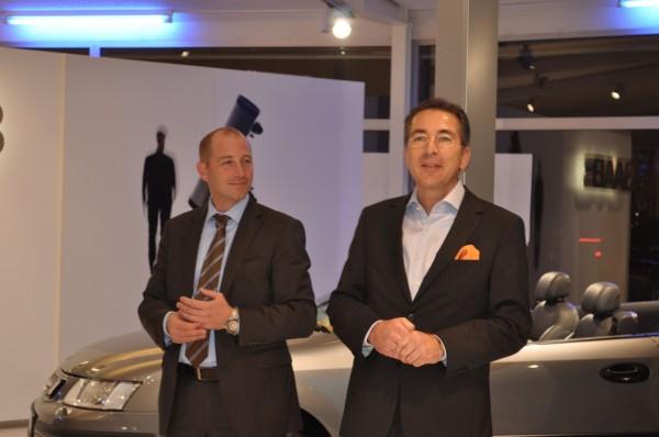 Saab Country Manager Jan Philipp Schuhmacher e Dittmar Schreyer em Bremen