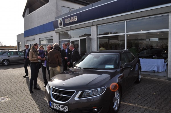 Bestes Herbstwetter, Saab Zentrum Mainz und Saab 9-5