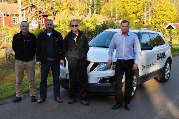 Saab 9-4x, Tom Knecht, Jan-Philipp Schuhmacher, Saab Fan und Grundstücksbesitzer, Mike Helfer