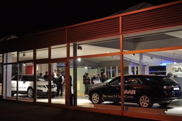 O parceiro Saab Volker Möhler: carro esporte Saab 9-5 e Saab 9-4x em Bremen