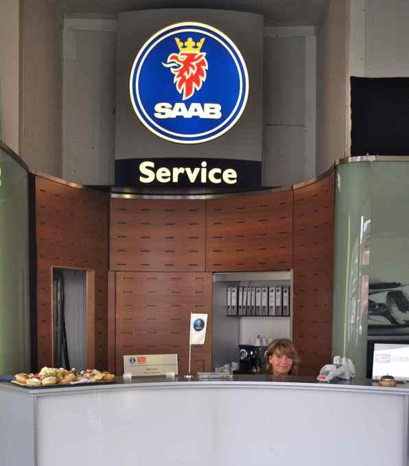 Saab Service Zielke, ein Lächeln für die Saab Kunden..