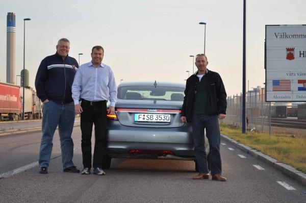 Team Saab: Henrik Claesson, Mike Helfer, Jan-Philipp Schuhmacher