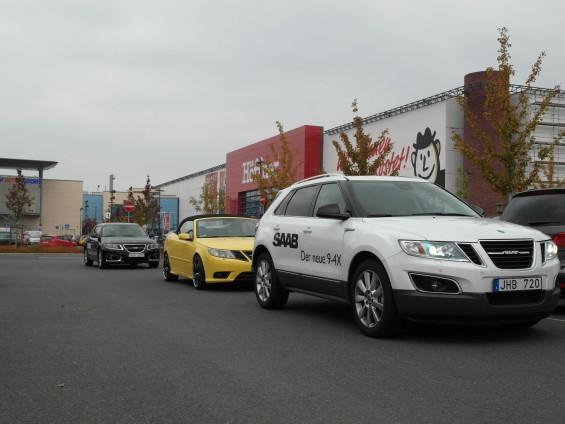 Erwischt: Saab 9-4x und Saab 9-5 Sportkombi in Dresden