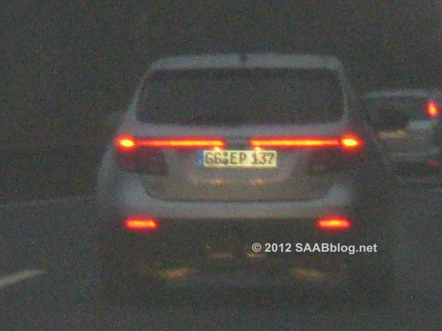 Saab 9-4x, unterwegs mit GG Nummernschild (Rüsselsheim)