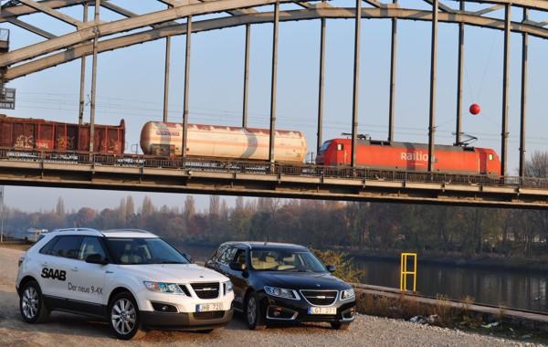 Saab 9-4x und Saab 9-5 Sportkombi Frankfurt Osthafen