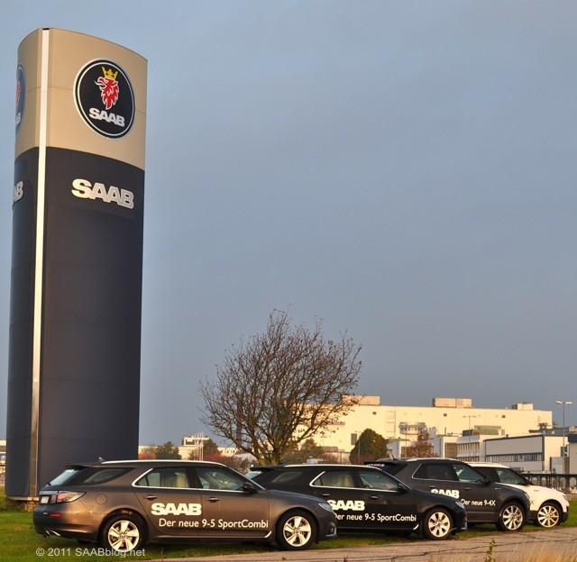 Trollhättan, planta Saab com o novo Saabs