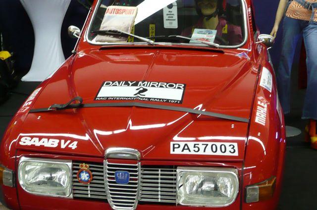 Saab 96 im Rally Trim - Techno Classica 2012
